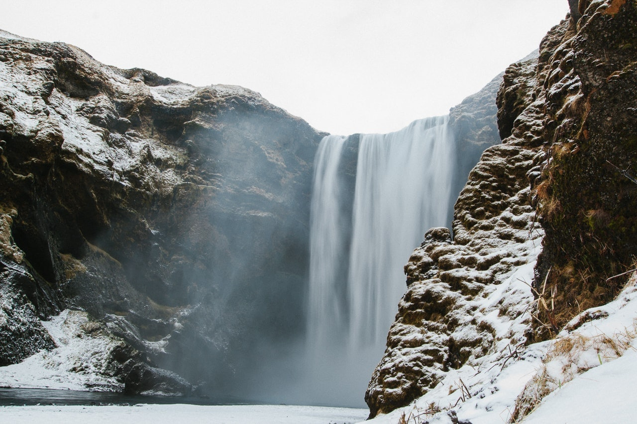 Iceland winter road trip - Skógafoss - by Conscious by Chloé