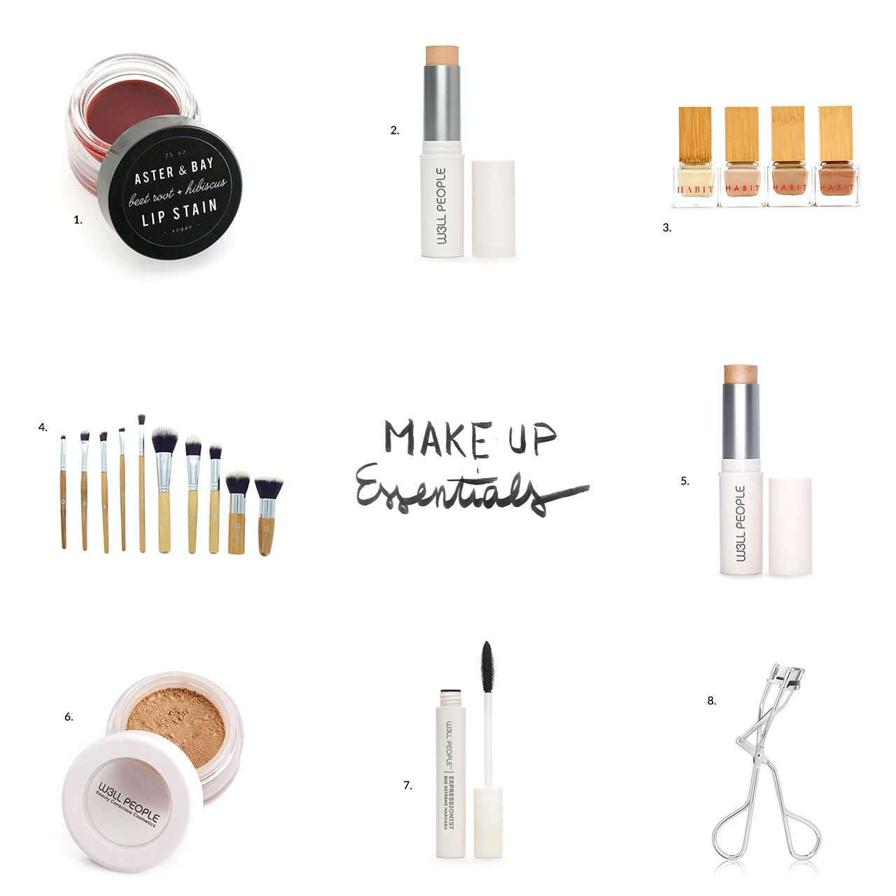 Natural make up essentials by Conscious by Chloé