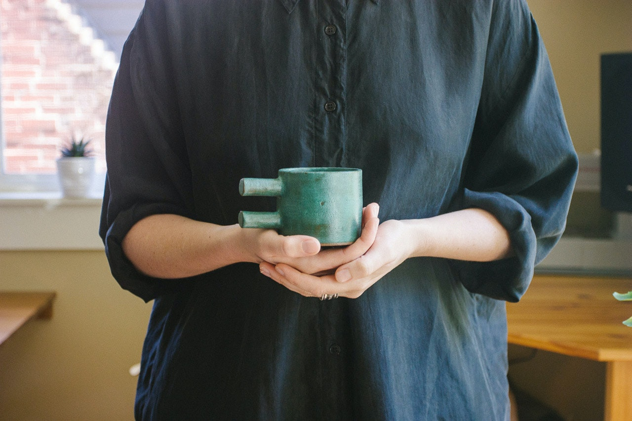 Ceramic cup found at Johan by Conscious by Chloé