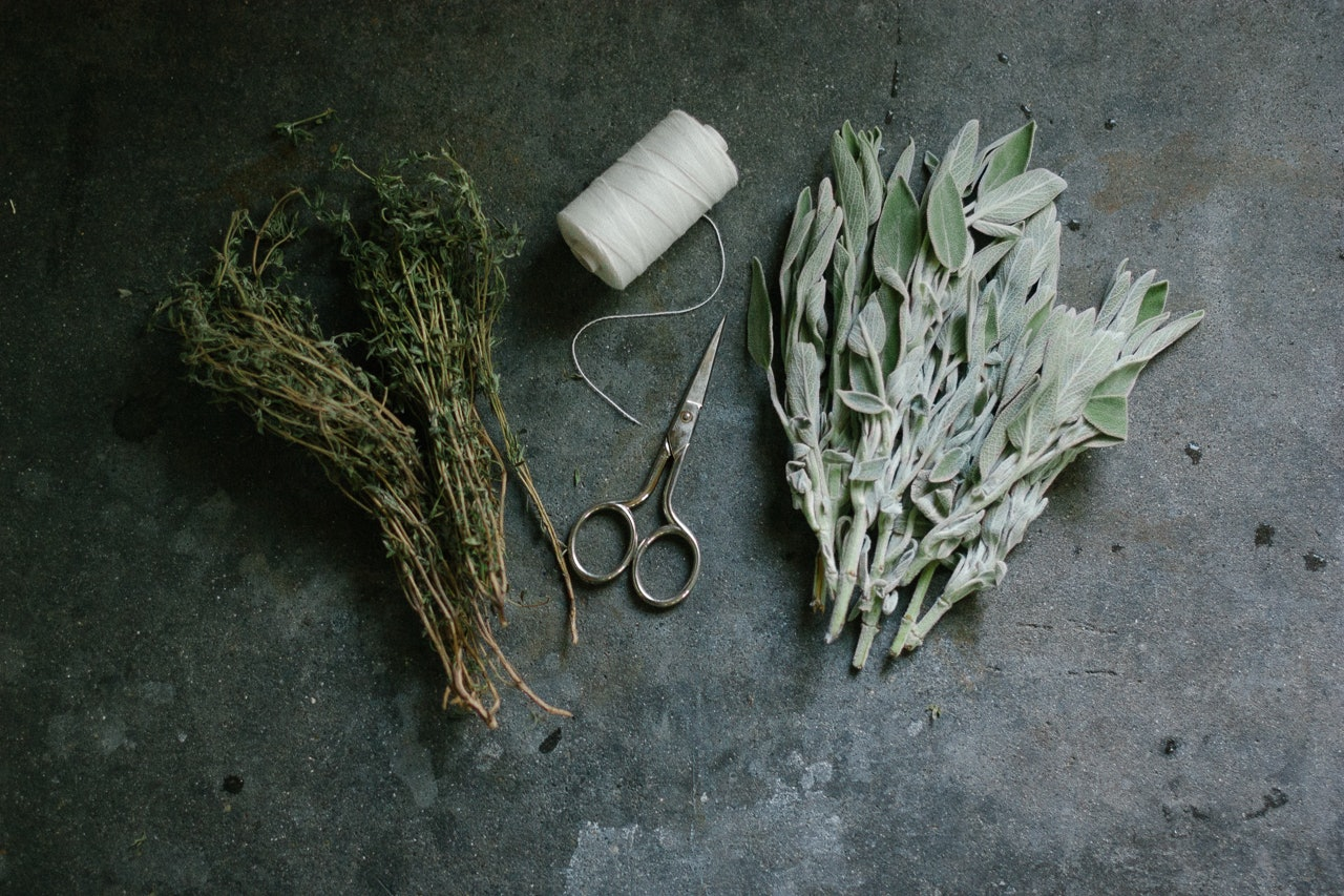 Sage + Rosemary Smudge Wands DIY