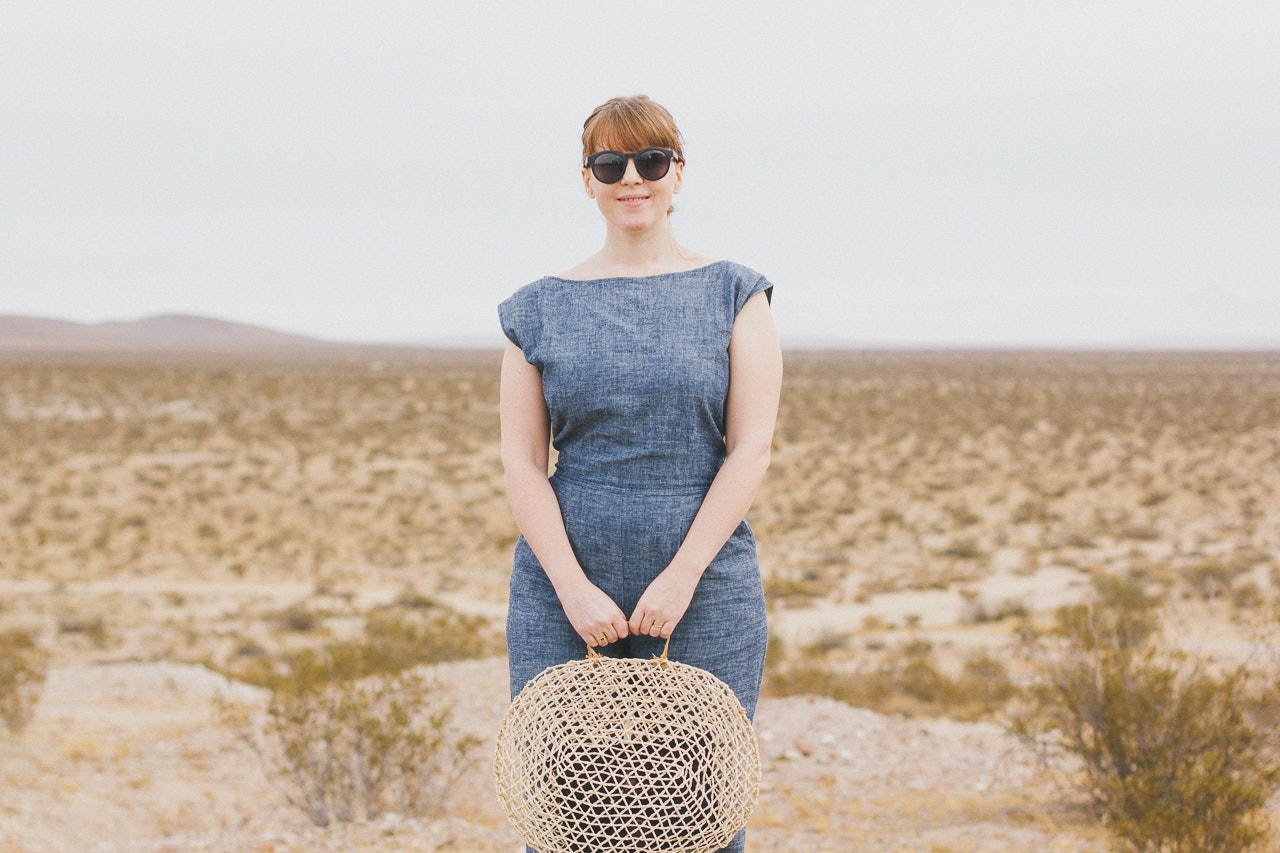 OZMA Jumpsuit and DIY Straw Bag Look by Conscious by Chloé