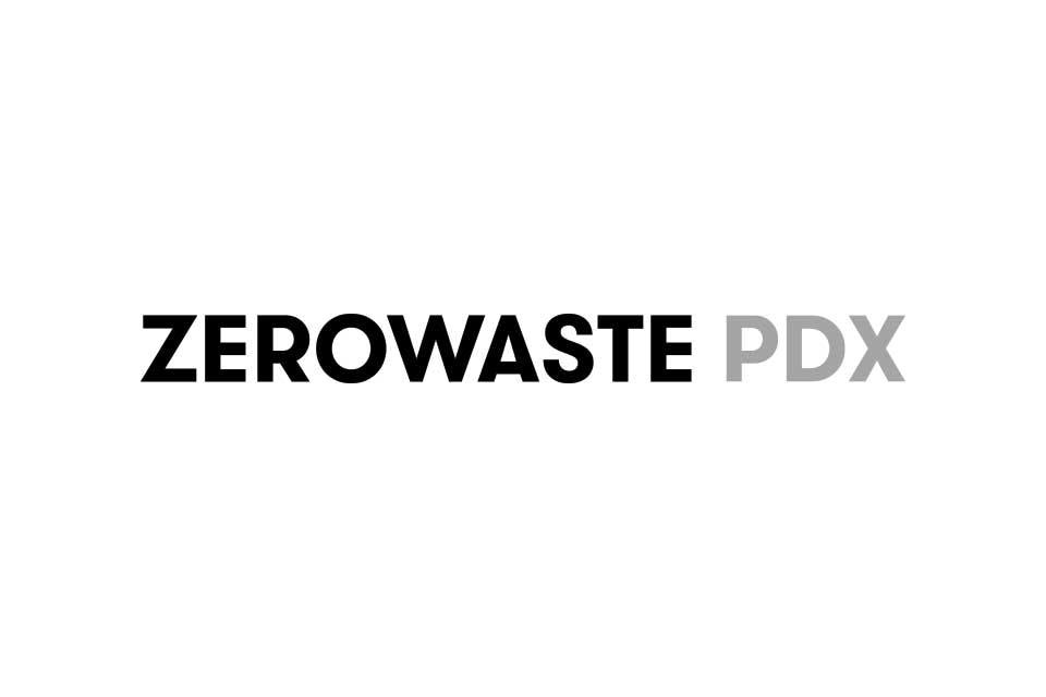 Zero Waste PDX Portland Oregon Logo by Conscious by Chloé