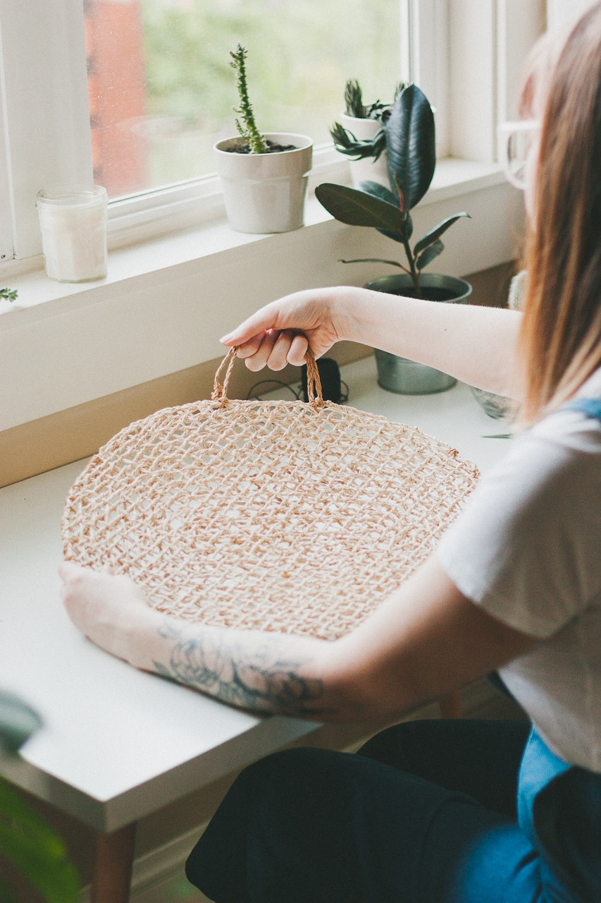 A Budget-Friendly Ikea Hack Straw Bag DIY by Conscious by Chloé