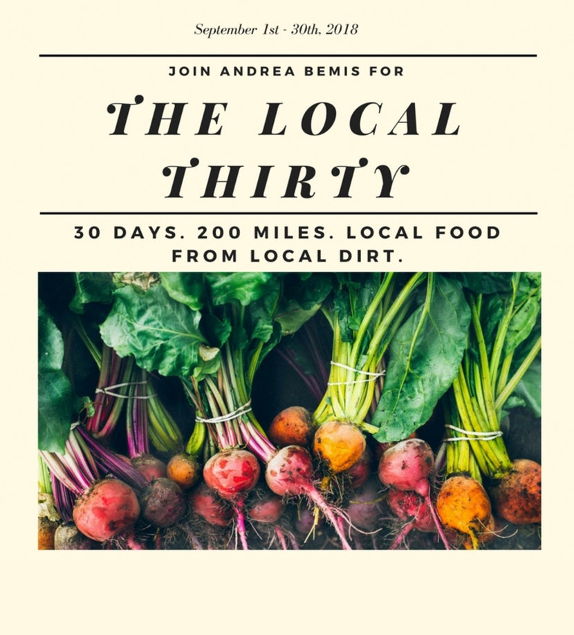 Habit Shift - The Local Thirty Challenge, Eating Local Food for a Month