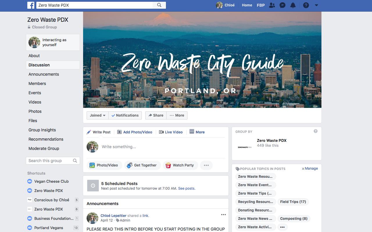 Zero Waste PDX Facebook Group