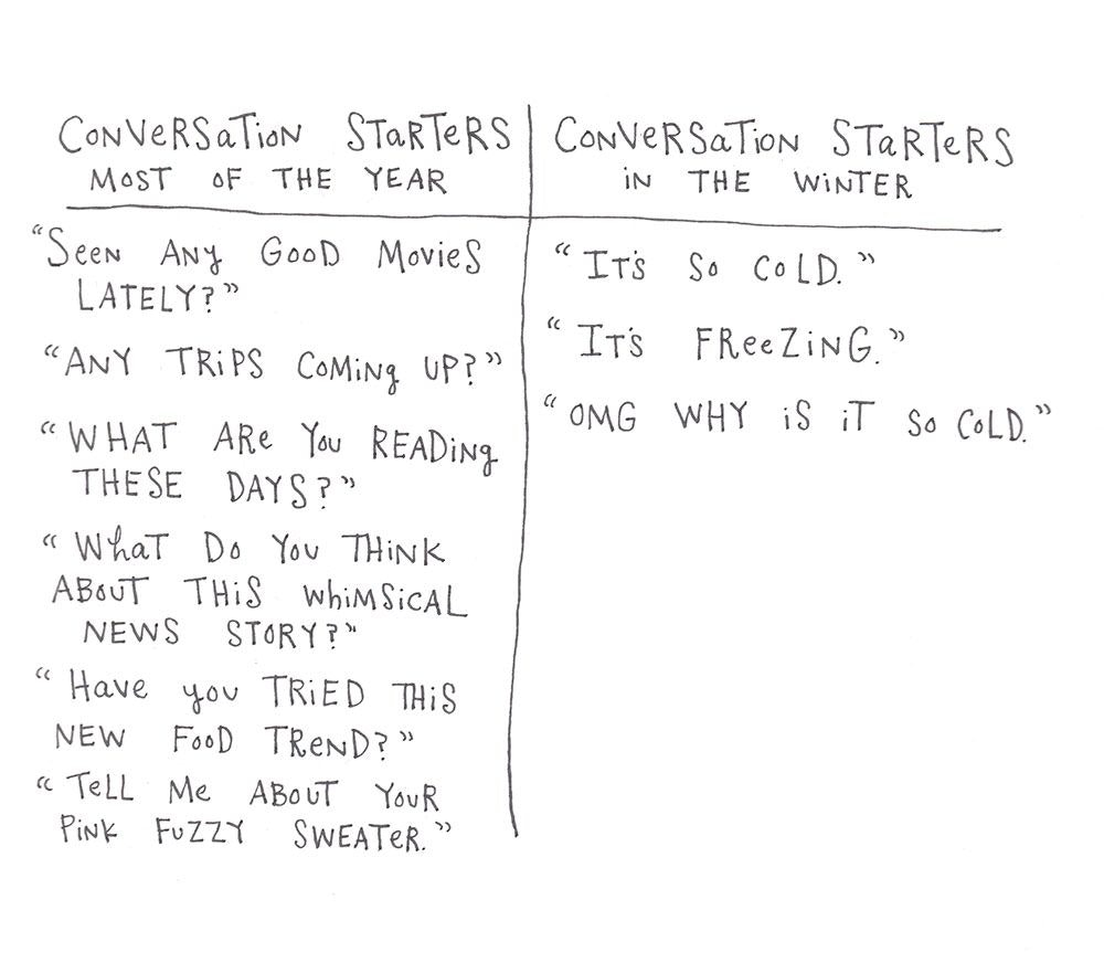 Winter Conversation Starters by Mary Andrews