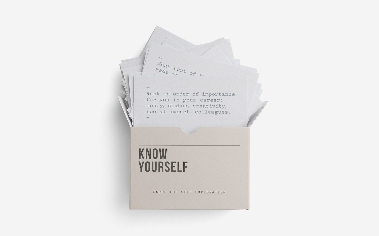 Know Yourself Prompt Cards by The School of Life