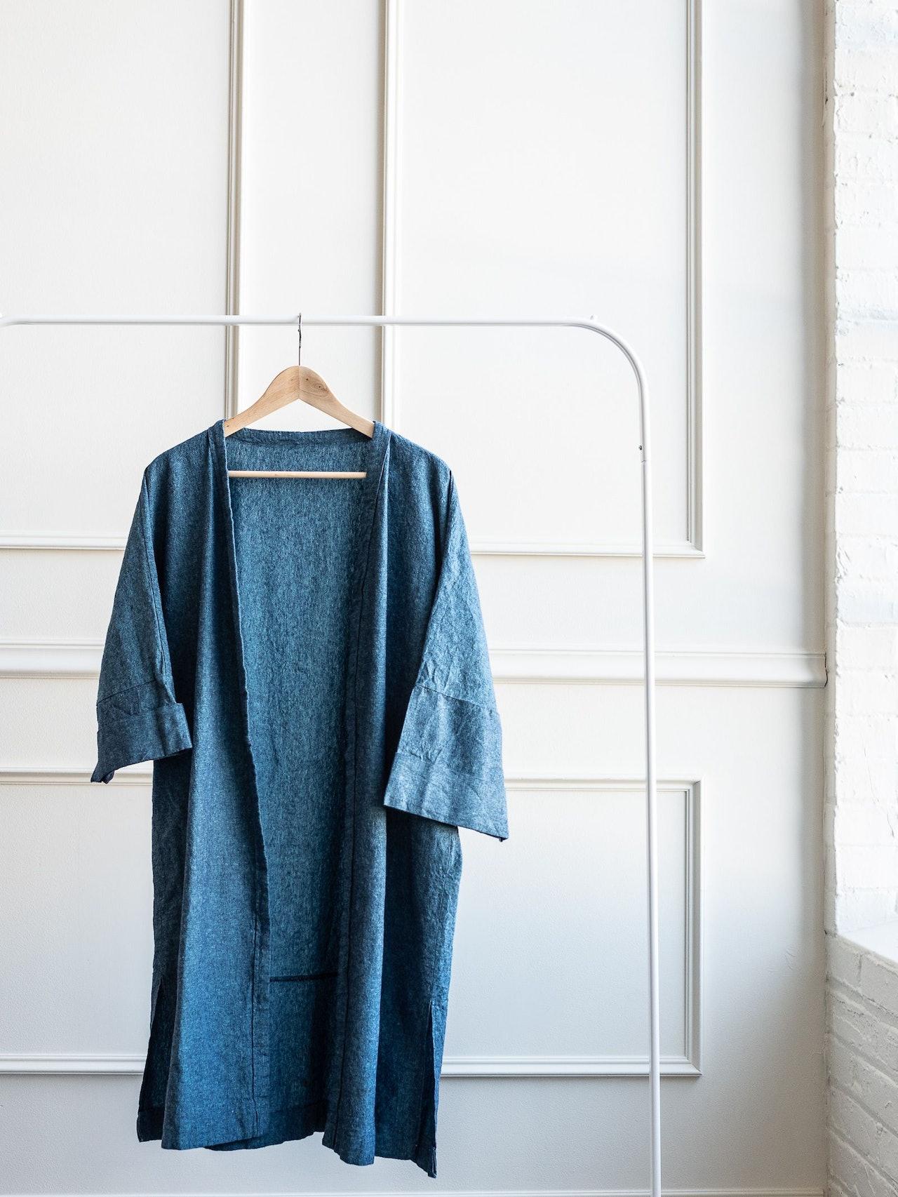 Vintage Blue Kimono Jacket by Conscious by Chloé