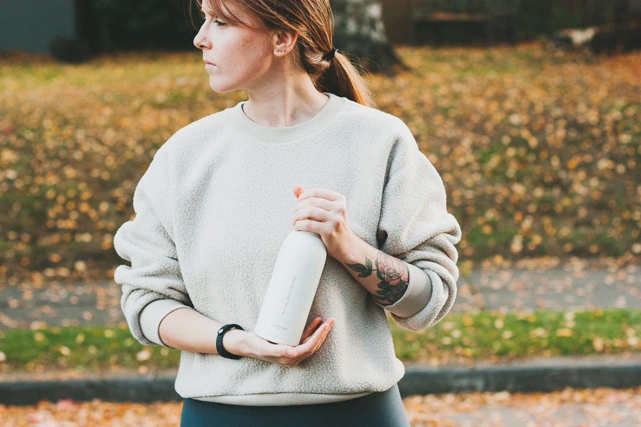 Everlane Renew Fleece Sweatshirt in Oat by Conscious by Chloé