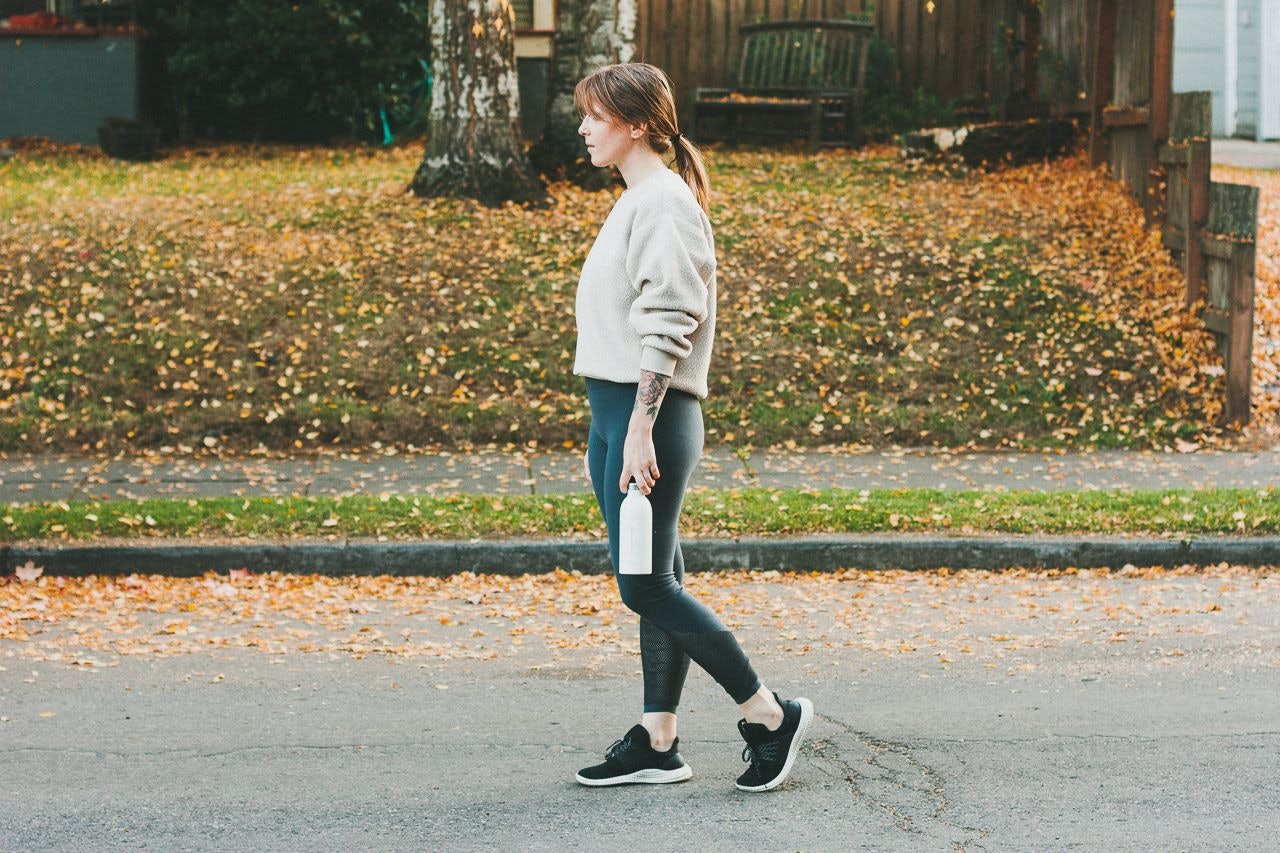 Everlane Renew Fleece Sweatshirt in Oat by Conscious by Chloé