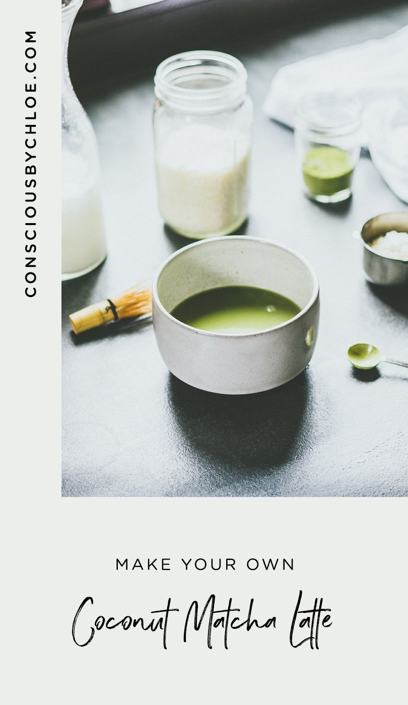 Creamy Coconut Matcha Latte Recipe by Conscious by Chloé