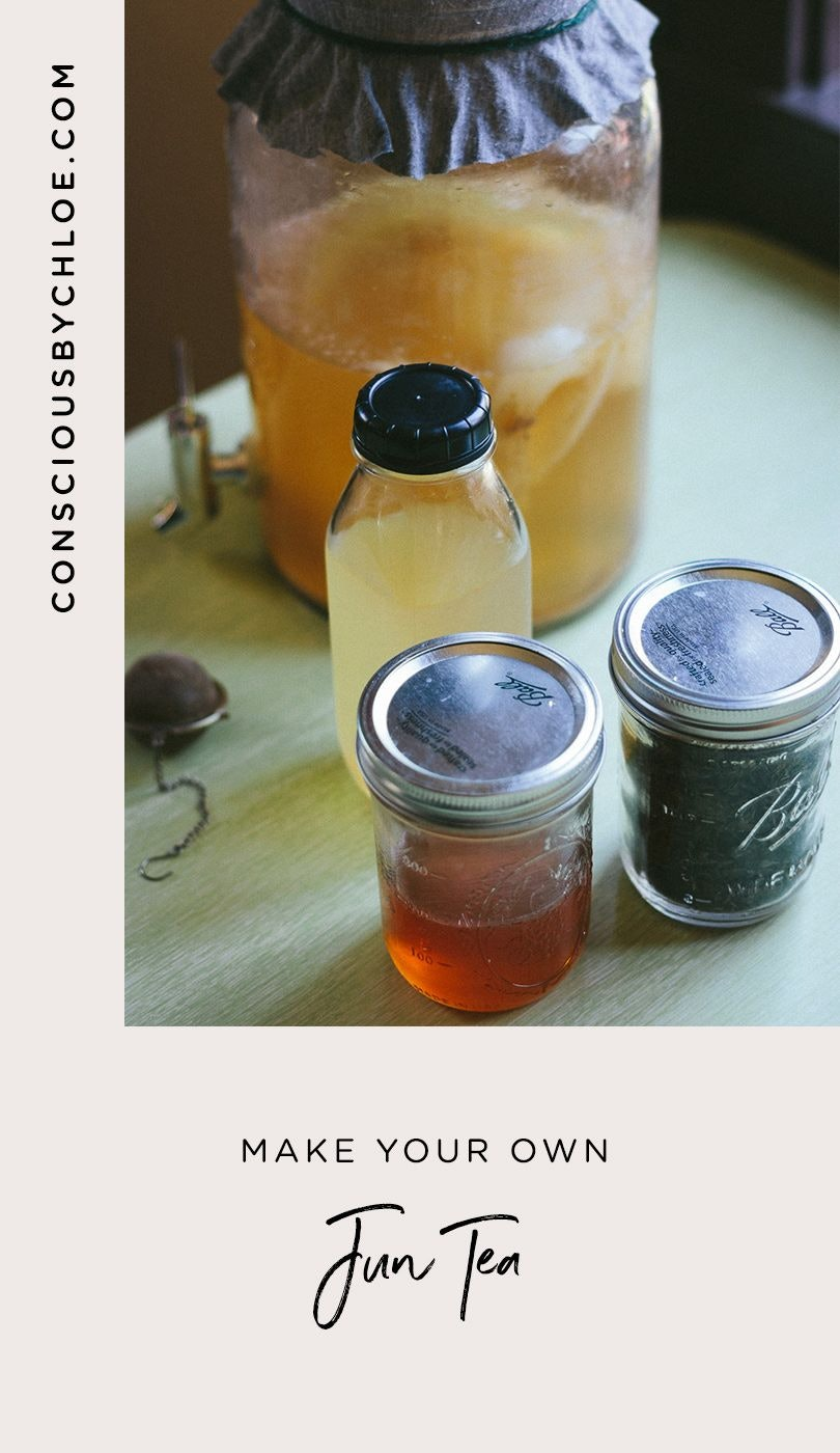 Jun (Honey and Green Tea Based Kombucha) Recipe by Conscious by Chloé