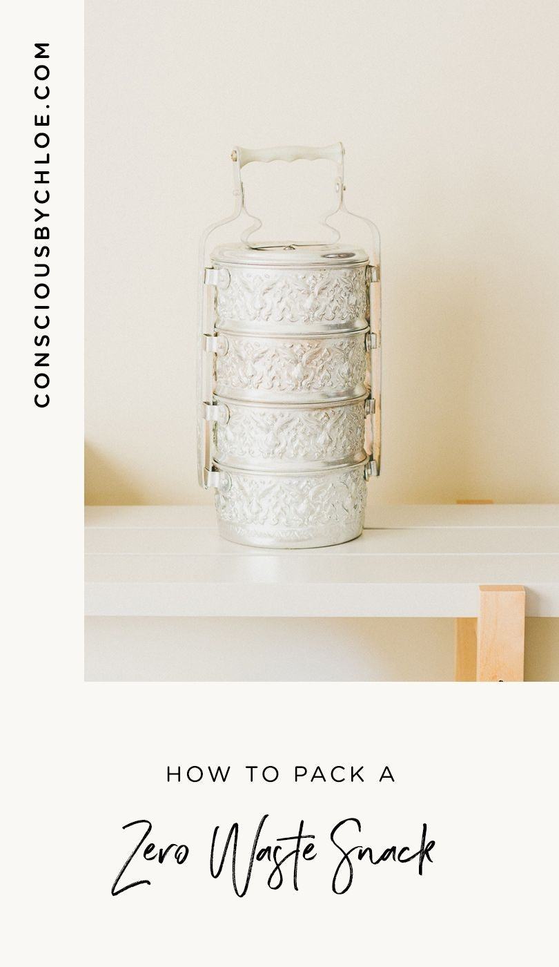 How to Pack a Zero Waste Snack in a Tiffin by Conscious by Chloé