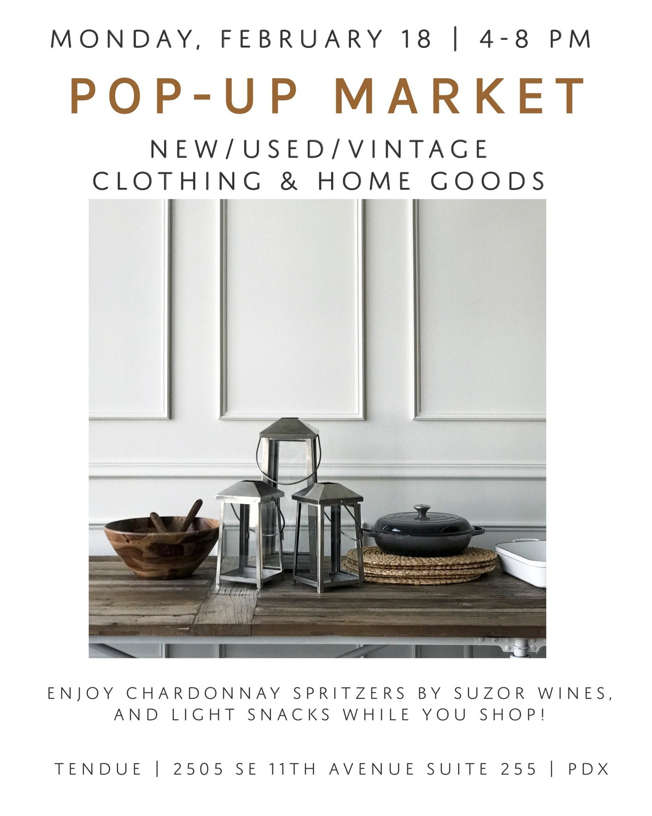 Vintage Pop Up Market at Tendue