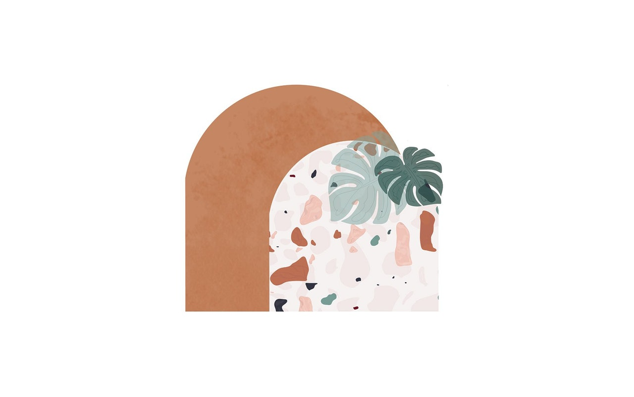 OHMEED for Design Love Fest Terrazzo Desktop Background for Conscious by Chloé