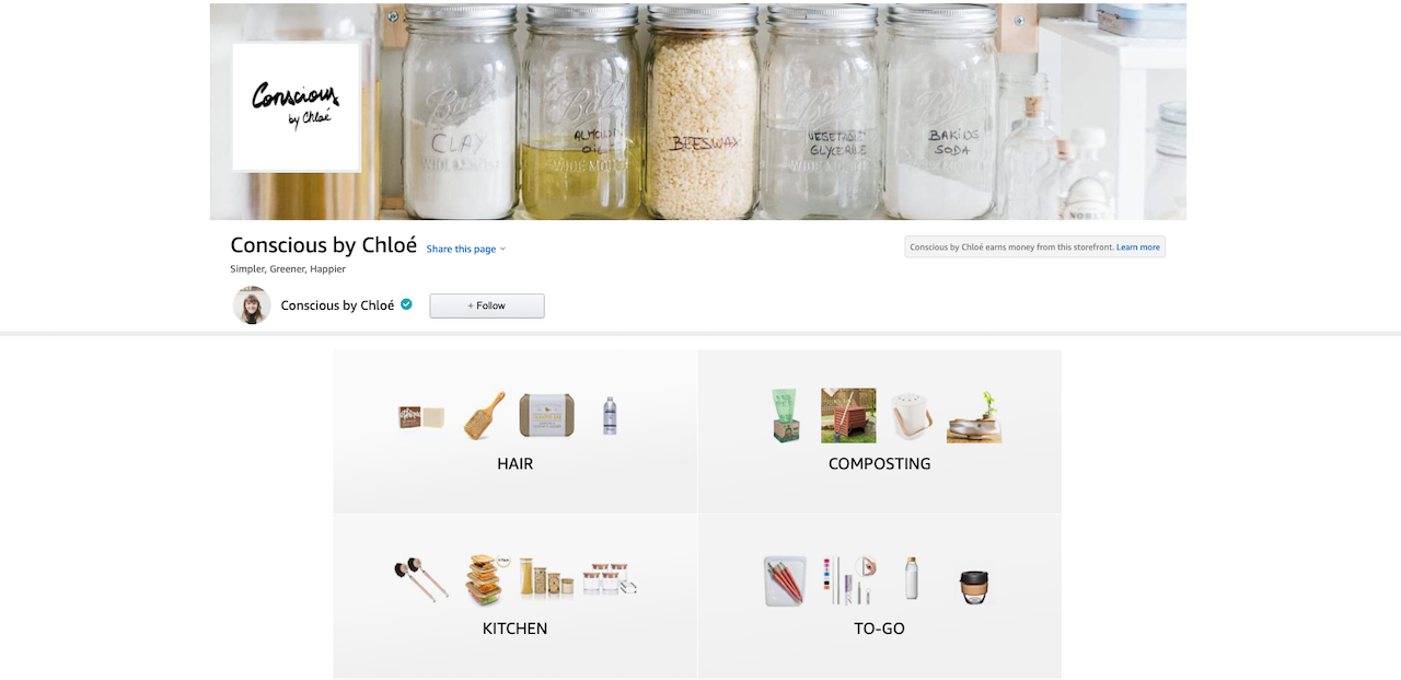 Zero Waste Amazon Shop by Conscious by Chloé