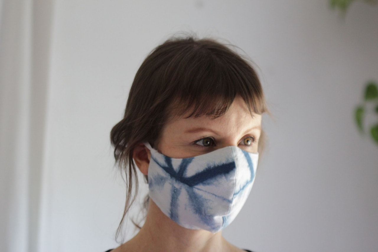 Bramble Workshop Shibori Face Mask Covid-19 Coronavirus for Conscious by Chloé