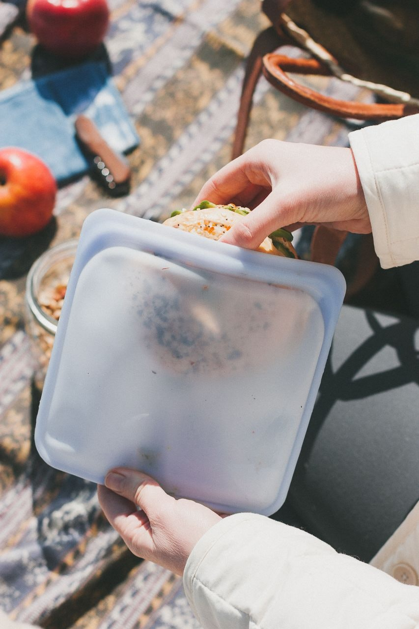 Stasher Zero Waste Reusable Silicone Bags for a Zero Waste Lunch by Conscious by Chloé