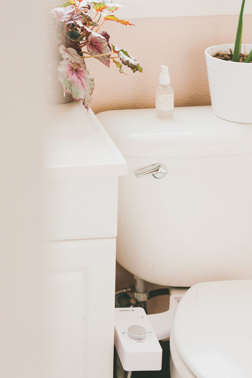 Tushy Classic White Silver Bidet by Conscious by Chloé