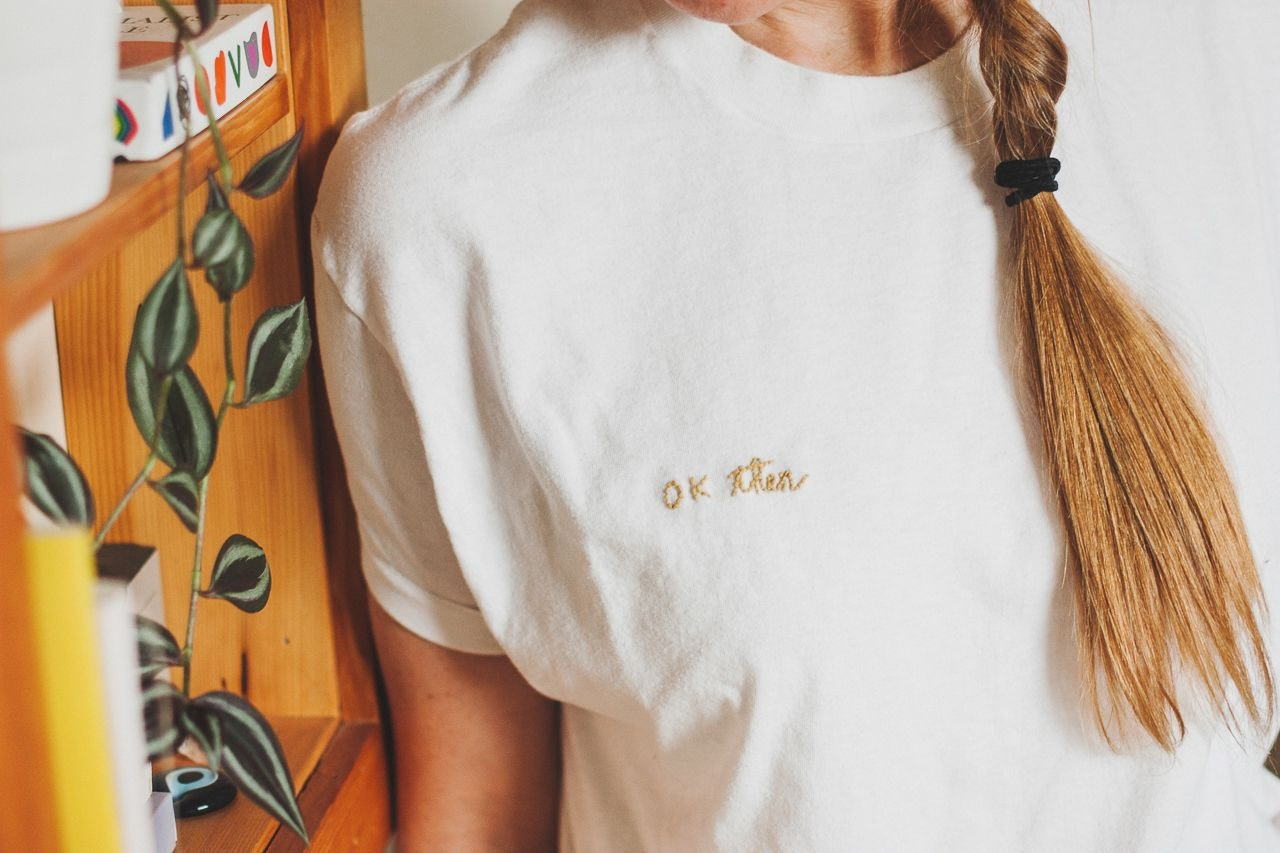 Embroidered Letters T-Shirt Tutorial by Conscious by Chloé