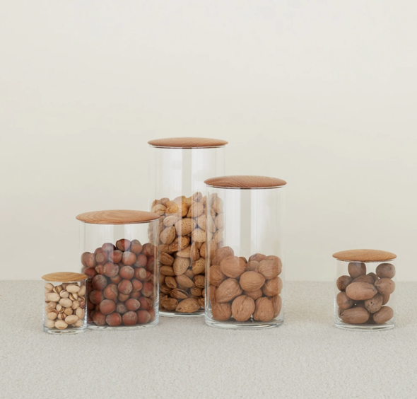 Zero Waste Maple Storage Containers by Beam & Anchor for Conscious by Chloé