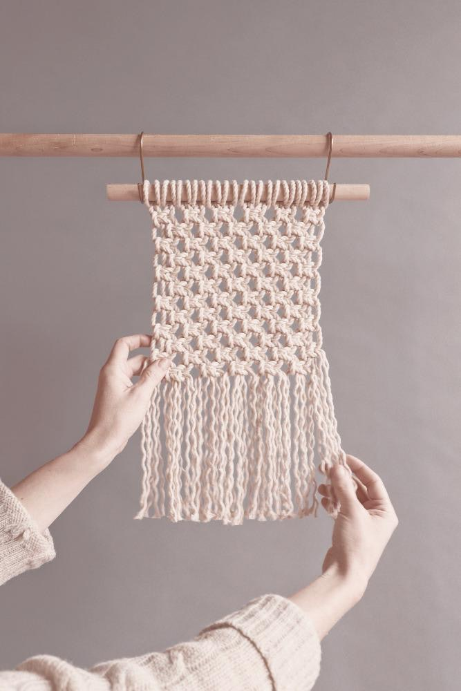Wall Hanging Kit Modern Macrame Portland for Conscious by Chloé