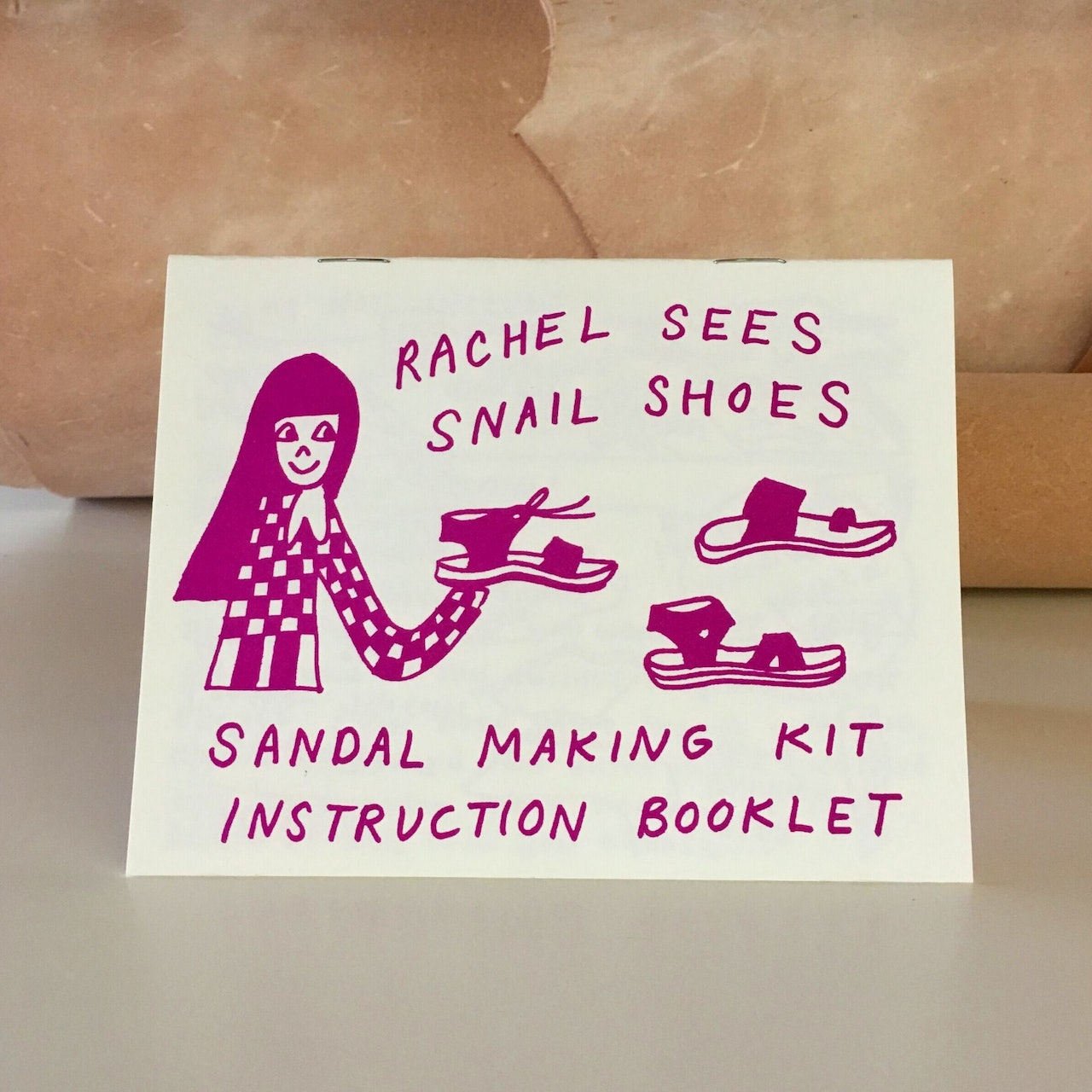 Sandal making kit by Rachel Sees Snail Shoes Portland for Conscious by Chloé