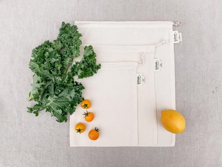 Organic Cotton Produce Bags by Utility Zero Waste for Conscious by Chloé