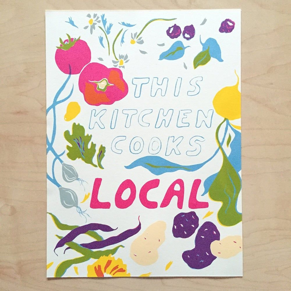 Kitchen Print by Wilcraft Studio Owner Chelsea Heffner for Conscious by Chloé
