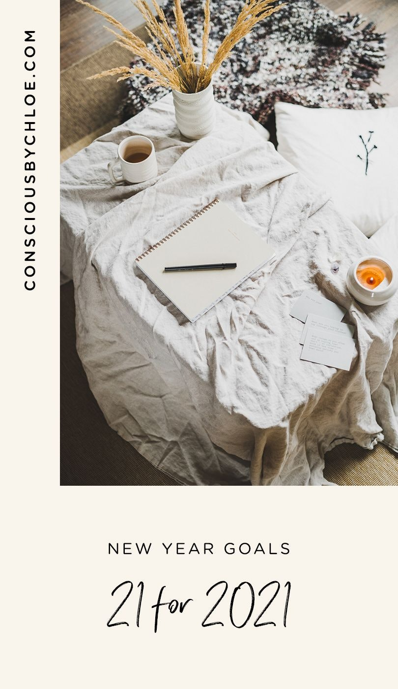 21 for 2021 Year Goal List for my Happiness Project by Conscious by Chloé