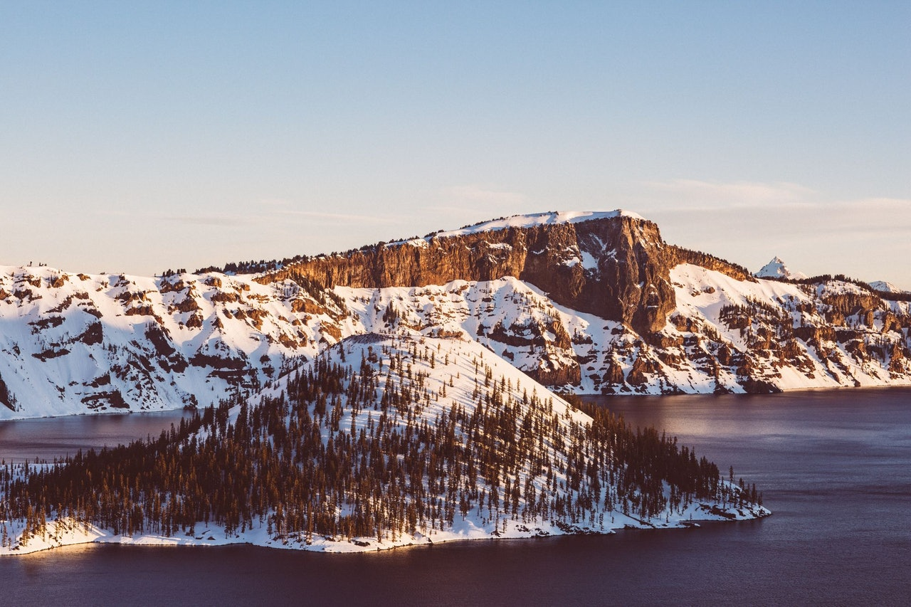 Crater Lake National Park Oregon Snow by Nitish Meena for Conscious by Chloé