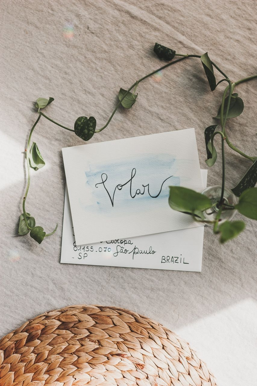 Handmade Calligraphy Watercolor Cards by Conscious by Chloé