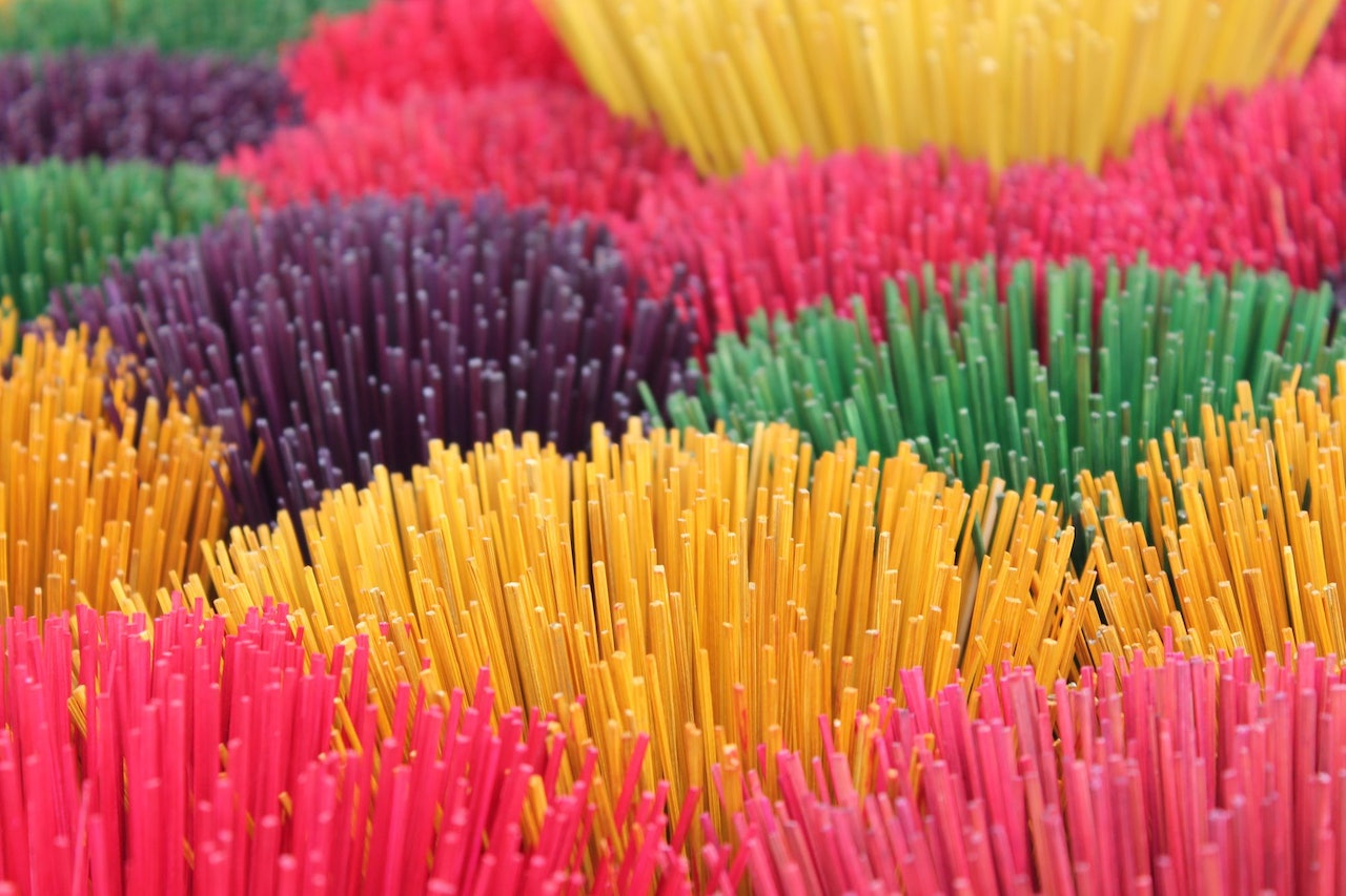 Colorful Incense Sticks by Josh Ellwood for Conscious by Chloé