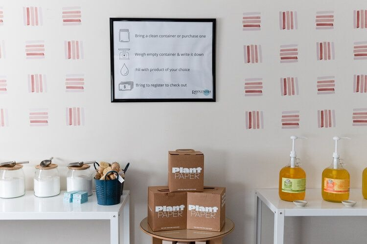 Replenish Zero Waste Essentials and Refill Store in Portland Oregon by Conscious by Chloé