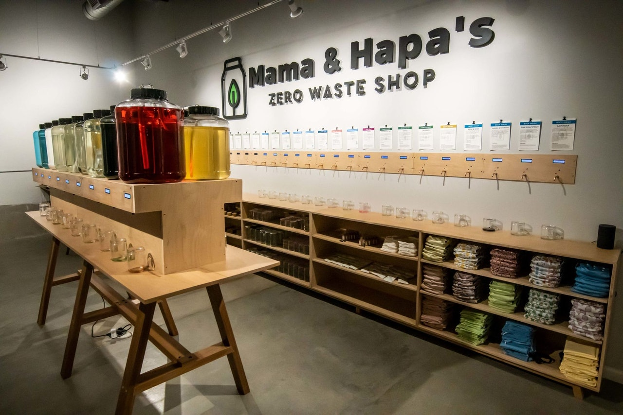 Mama & Hapa's Zero Waste Essentials and Refill Store in Portland Oregon by Conscious by Chloé